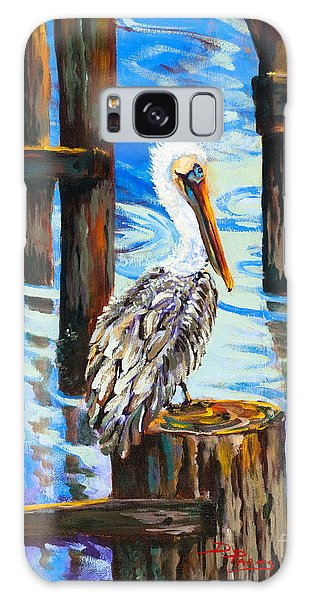 Pelican And Pilings Galaxy Case