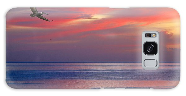 Pelican At Sunset Galaxy Case by Mariarosa Rockefeller
