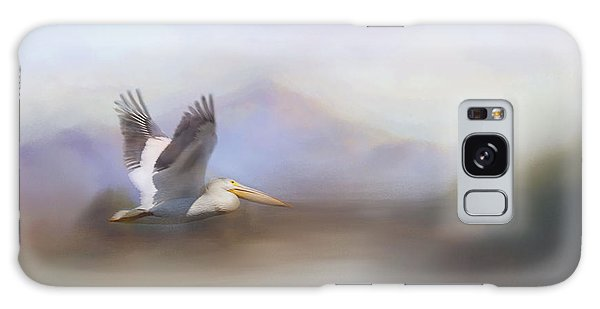 Pelican In Flight  Galaxy Case by Betty  Pauwels