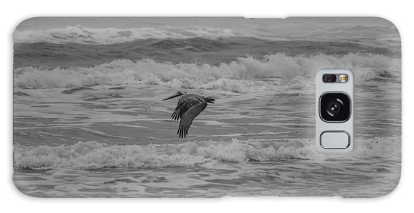 Padre Island National Seashore Galaxy S8 Case - Pelican In Flight by JL Griffis