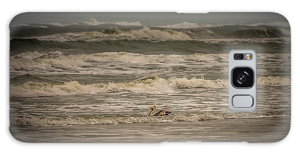 Padre Island National Seashore Galaxy S8 Case - Pelican by JL Griffis