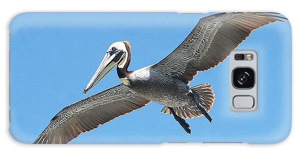 Pelican Landing On  Pier Galaxy Case by Tom Janca