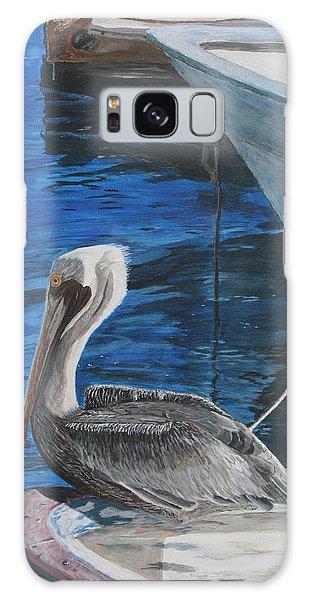 Pelican On A Boat Galaxy Case