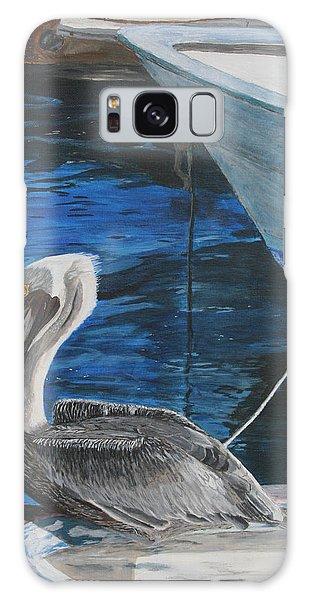 Pelican On A Boat Galaxy Case by Ian Donley
