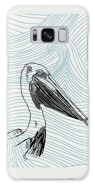 Pelican On Waves Galaxy Case