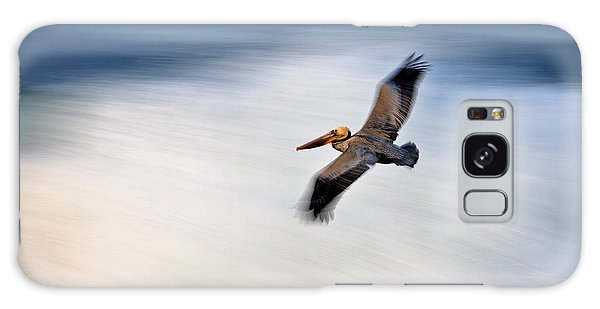 Pelican Over Wave  Mg_1212 Galaxy Case