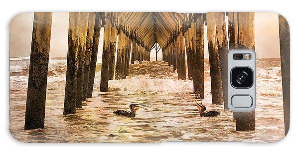 Pelican Paradise Galaxy Case by Betsy Knapp