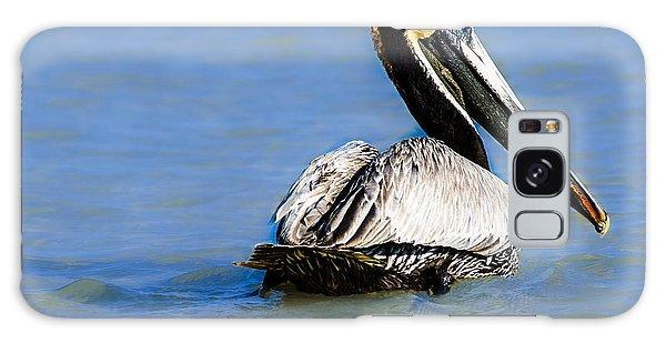 Pelican Swimming Galaxy Case