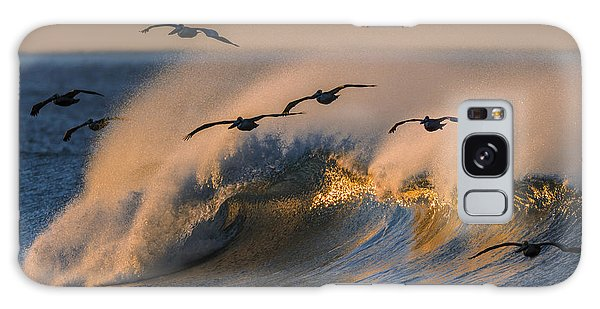 Pelicans And Wave 73a2308-2 Galaxy Case