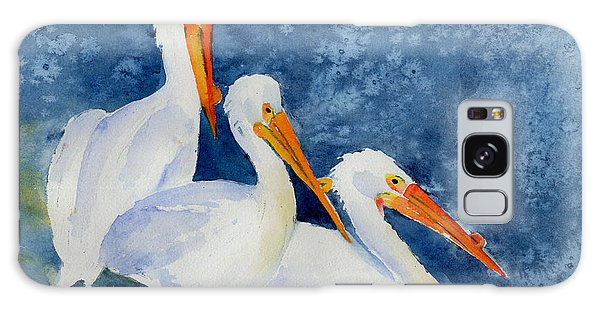 Pelicans At The Weir Galaxy Case