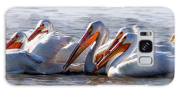 Pelicans Galaxy Case
