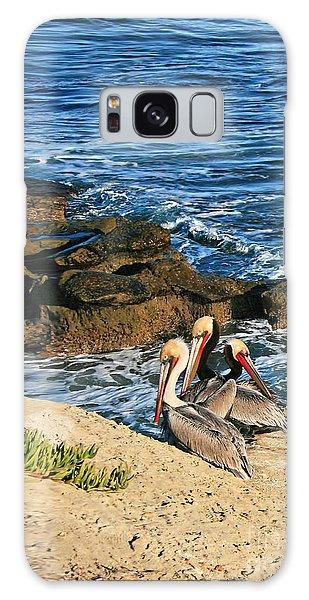 Pelicans On The Cliff - La Jolla Cove Galaxy Case