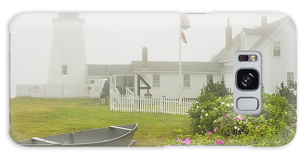 Pemaquid Point Lighthouse In Fog Maine Prints Galaxy Case by Keith Webber Jr