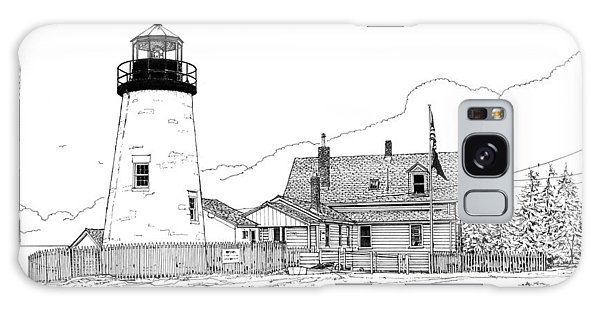 Pemaquid Point Lighthouse Galaxy Case by Ira Shander