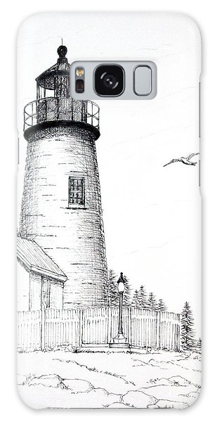 Pemaquid Point Lighthouse Galaxy Case by Mariarosa Rockefeller