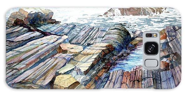 Pemaquid Rocks Galaxy Case