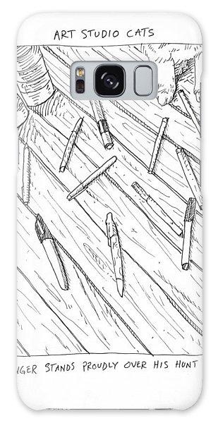 Pen Massacre Galaxy Case by Steve Hunter