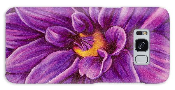 Pencil Dahlia Galaxy Case by Janice Dunbar