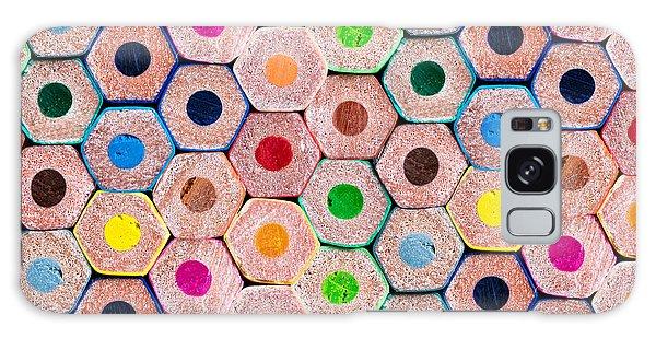 School Galaxy Case - Pencils by Delphimages Photo Creations