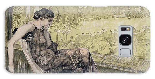 Tapestry Galaxy Case - Penelope Weaving A Shroud For Laertes by Max Klinger