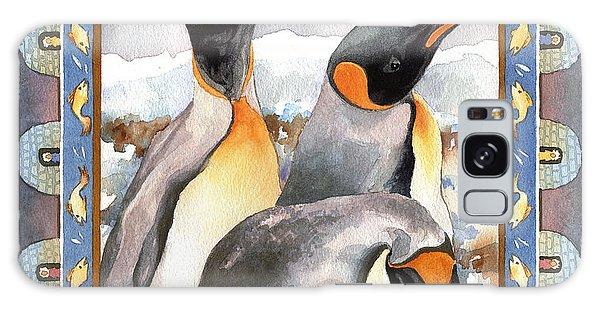 Penguin Family Portrait Galaxy Case