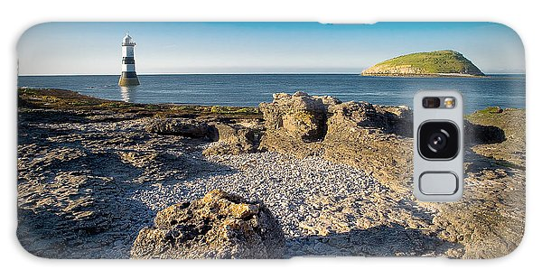 Penmon Lighthouse And Puffin Island Galaxy Case