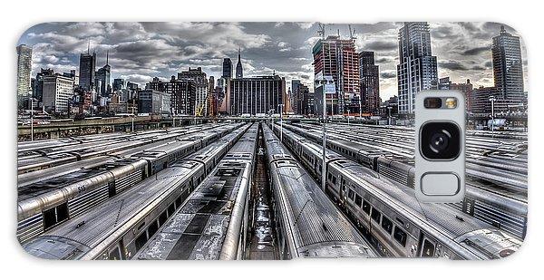 Penn Station Train Yard Galaxy Case
