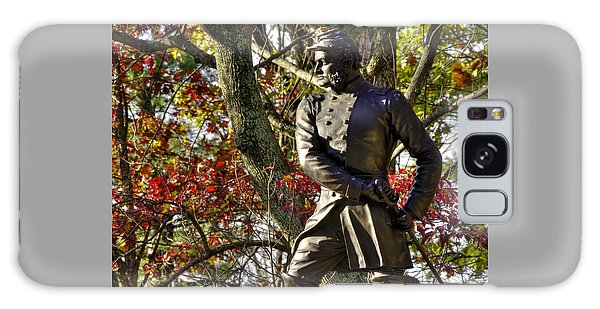 Pennsylvania At Gettysburg - Col Strong Vincent 83rd Pa Volunteer Infantry Close-2b Little Round Top Galaxy Case