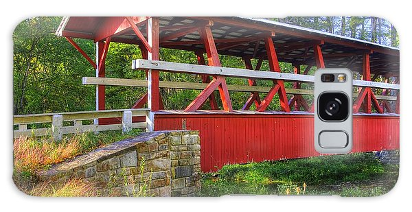 Pennsylvania Country Roads - Colvin Covered Bridge Over Shawnee Creek - Autumn Bedford County Galaxy Case