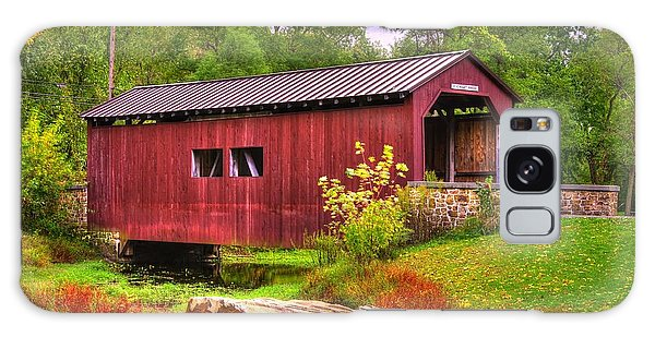 Pennsylvania Country Roads - Everhart Covered Bridge At Fort Hunter - Harrisburg Dauphin County Galaxy Case