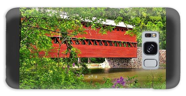 Pennsylvania Country Roads - Sachs Covered Bridge Over Marsh Creek-3b - Shade Of Spring Adams County Galaxy Case