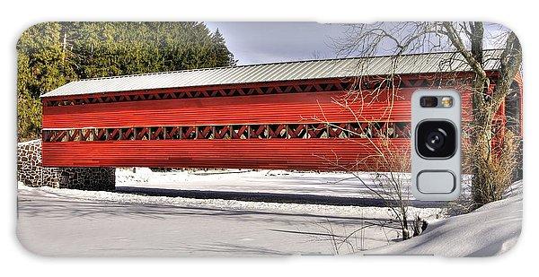 Pennsylvania Country Roads - Sachs Covered Bridge Over Marsh Creek B1 - Adams County Winter Galaxy Case
