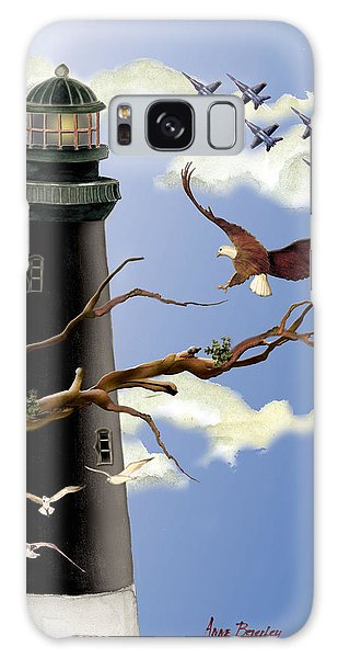Pensacola Light House Tower Galaxy Case