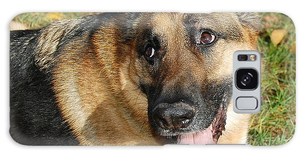 Pensive German Shepherd Galaxy Case
