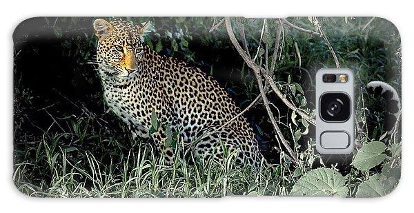 Pensive Leopard Galaxy Case