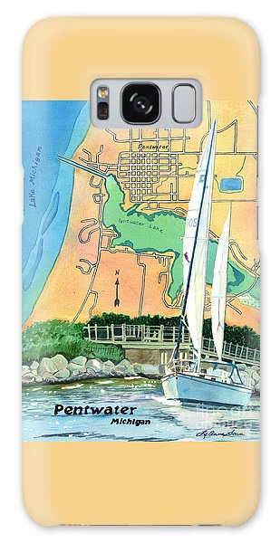 Pentwater Treasure Map Galaxy Case