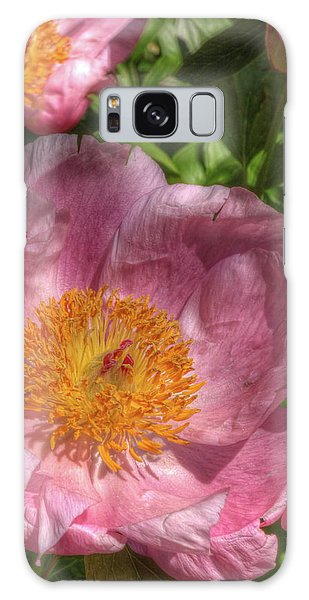 Peonies Aglow Galaxy Case