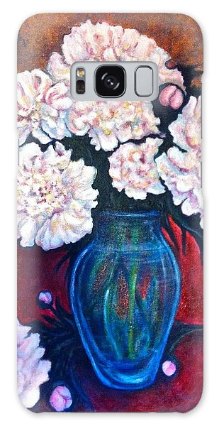 Peonies Galaxy Case by Rae Chichilnitsky