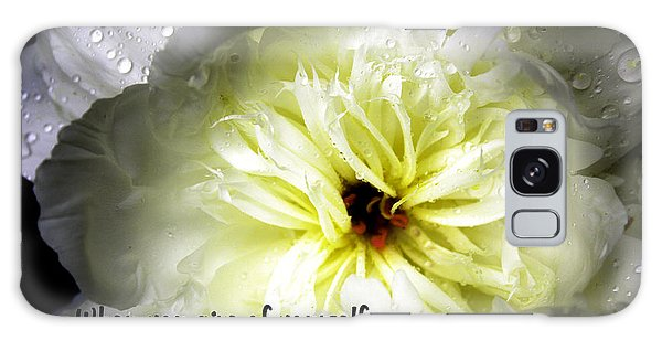 Peony After The Rain Galaxy Case by Marilyn Carlyle Greiner