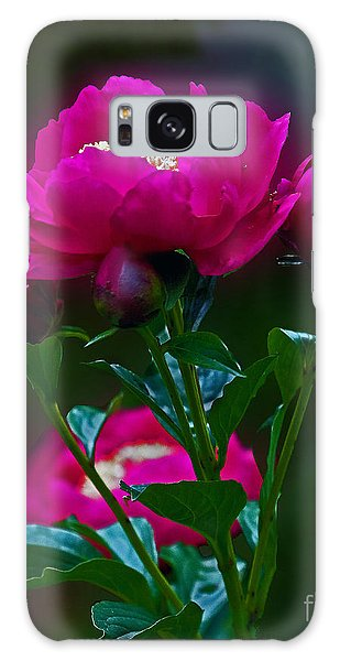 Peony Glow Galaxy Case by Robert Pilkington