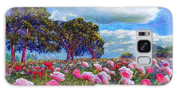 Blossoms Galaxy Case - Peony Heaven by Jane Small