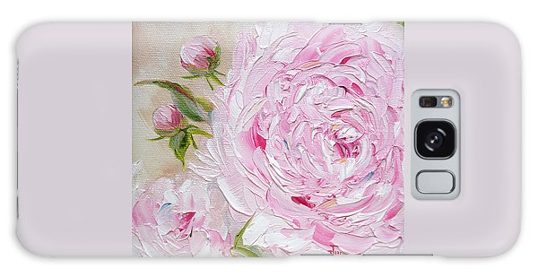 Galaxy Case featuring the painting Peony by Judith Rhue