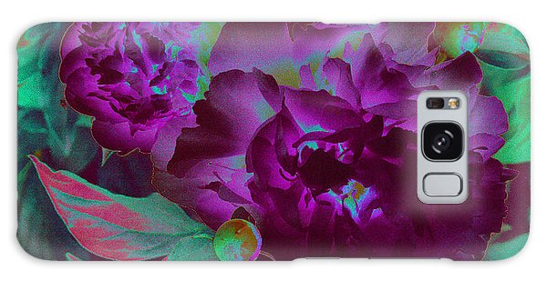 Peony Passion Galaxy Case by First Star Art