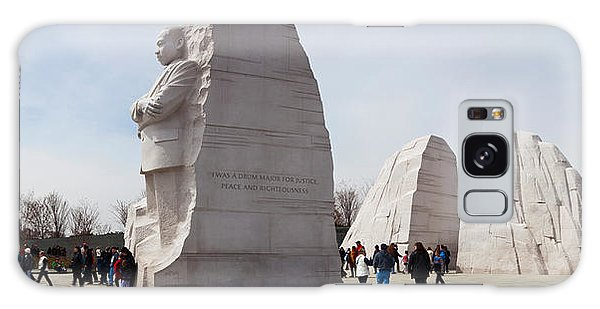 Martin Luther Galaxy Case - People At Martin Luther King Jr by Panoramic Images