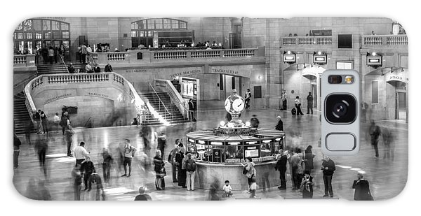People At The Grand Central Station Galaxy Case