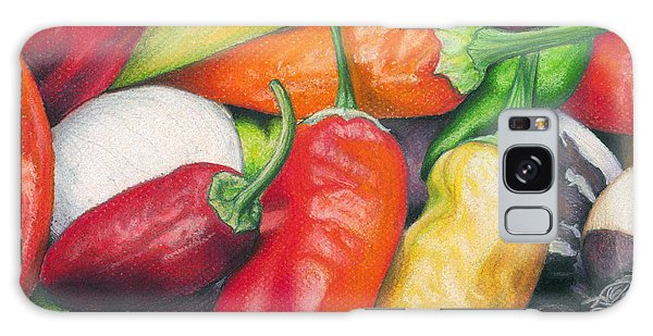 Peppers And Onions Galaxy Case