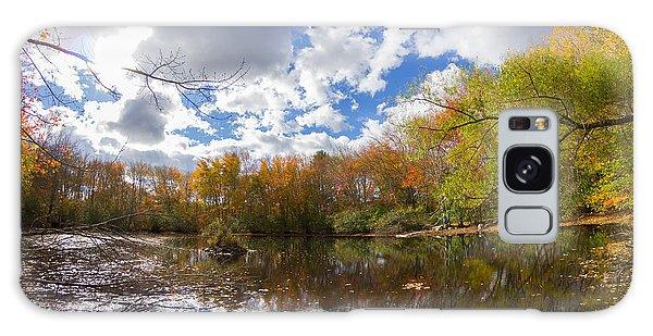 Pequotsepos Duck Pond Reflection   Galaxy Case