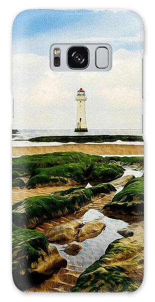 Perch Rock Lighthouse Galaxy Case