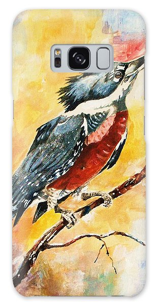 Perched Kingfisher Galaxy Case by Al Brown