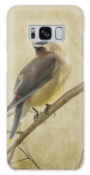 Perching Waxwing Galaxy Case